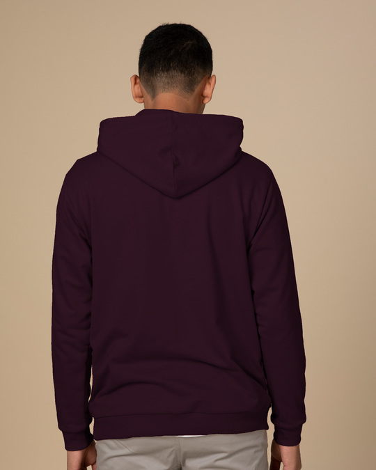 Shop Burgundy Fleece Hoodies-Full
