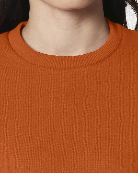 Shop Burnt Orange Fleece Sweater-Full