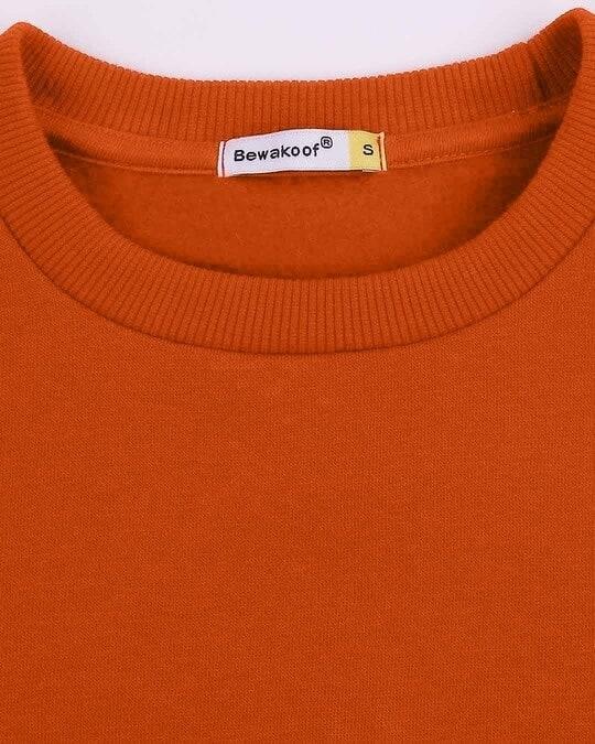 Shop Burnt Orange Fleece Sweater