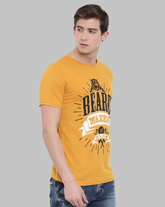 Shop Beard Makes Us Real Man Printed T Shirt