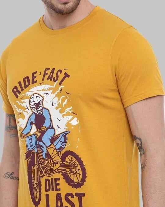 Shop Ride Fast Die Last Printed T Shirt