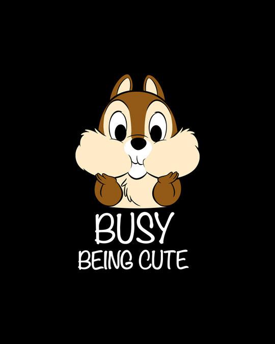 Shop Busy Being Cute Boyfriend T-Shirt (DL) Black-Full