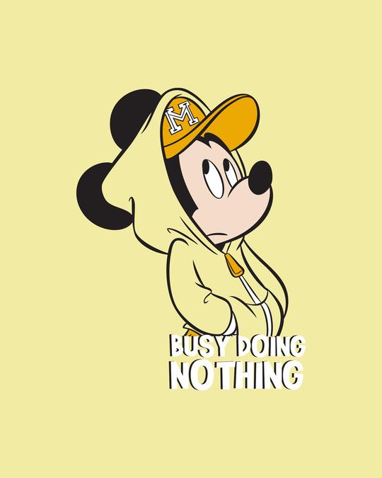 Shop Busy Doin Nothing Boyfriend T-Shirt (DL) Pastel Yellow