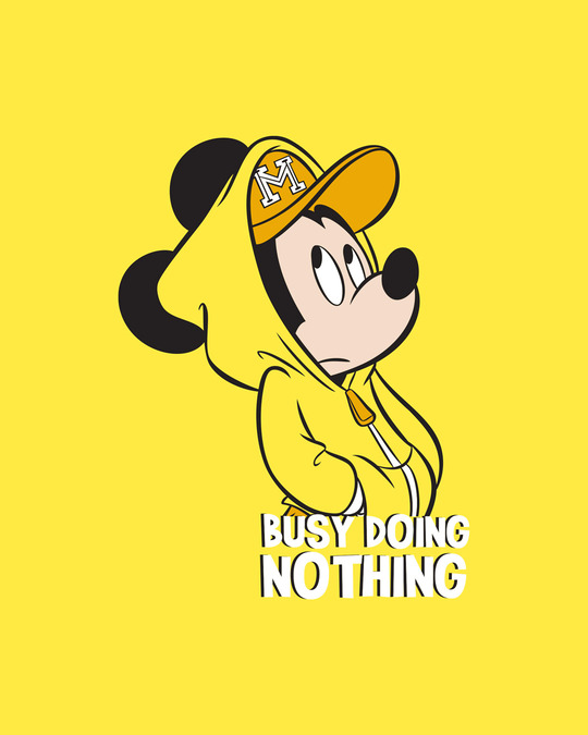 Shop Busy Doin Nothing Boyfriend T-Shirt (DL) Pineapple Yellow