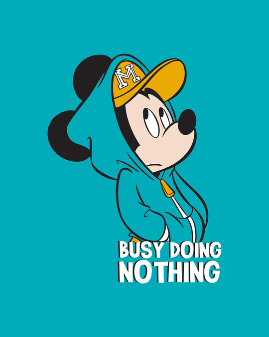 Shop Busy Doin Nothing Half Sleeve T-shirt