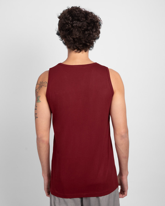 Shop Busy Doin Nothing Vest Scarlet Red-Back