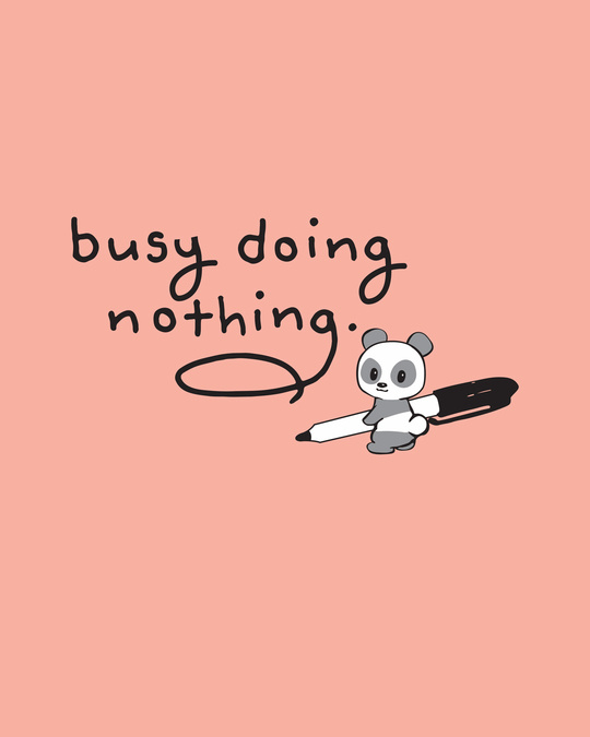 Shop Busy Doing Nothing Boyfriend T-Shirt-Full