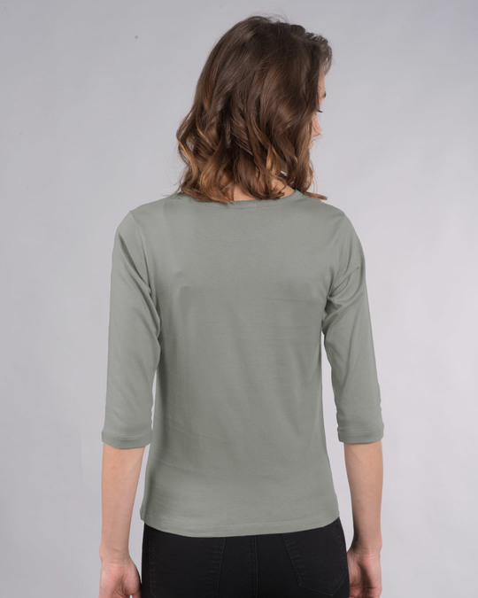 Shop Busy Doing Nothing Round Neck 3/4th Sleeve T-Shirt-Back