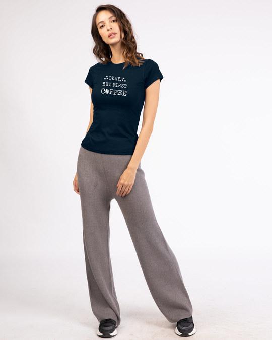 Shop But First, Coffee Half Sleeve T-Shirt-Design