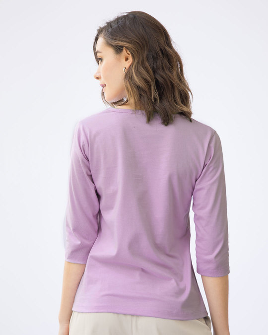 Shop Buzzing Bee Yourself Round Neck 3/4th Sleeve T-Shirt-Back