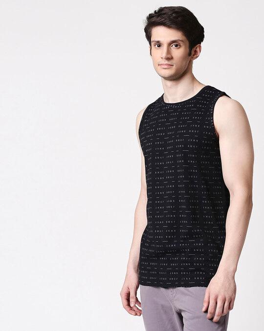 Shop BWKF Line Men's AOP Vest T-Shirts-Back