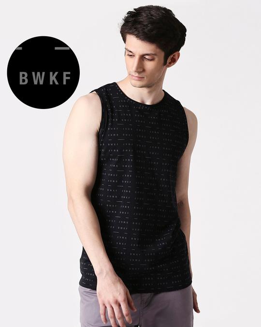 Shop BWKF Line Men's AOP Vest T-Shirts-Front