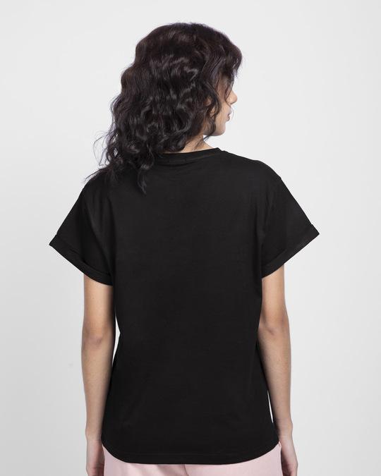 Shop Byapok AF Boyfriend T-Shirt Jet Black-Back