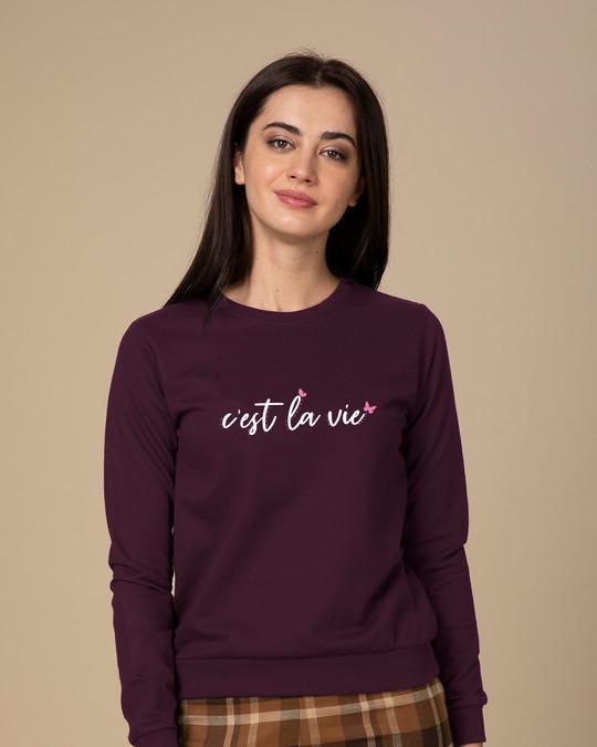 Shop C'est La Vie Sweatshirt-Front