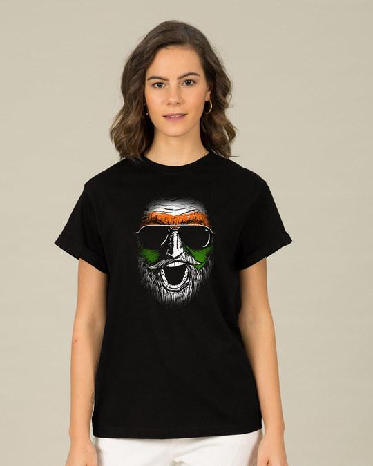Shop C'mon India Boyfriend T-Shirt-Front