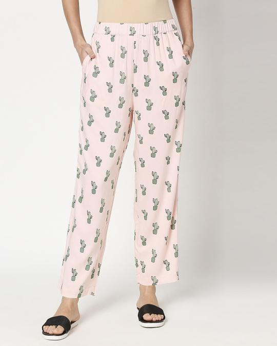 Shop Women's Pink Shirt & Printed Pyajama