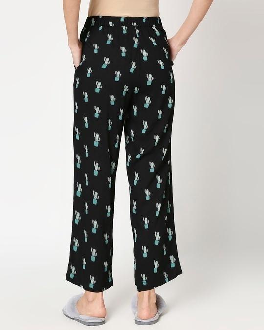 Shop Women's Black Shirt & Printed Pyajama