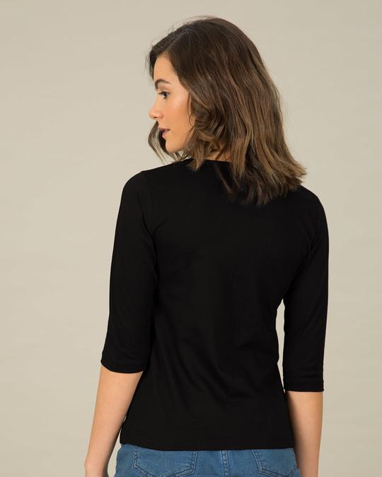 Shop Call Me Senorita Round Neck 3/4th Sleeve T-Shirt-Full