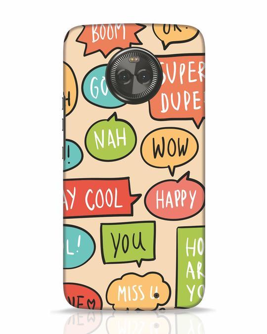 Shop Callouts Moto X4 Mobile Cover-Front
