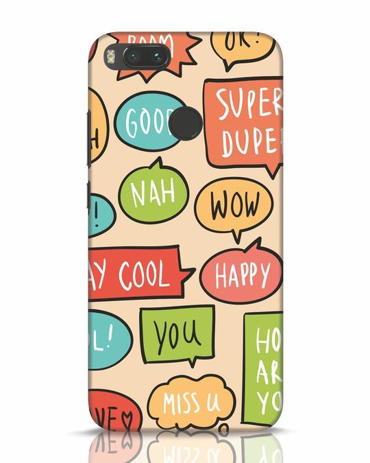 Shop Callouts Xiaomi Mi A1 Mobile Cover-Front
