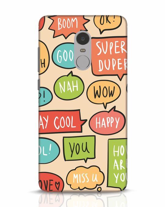 Shop Callouts Xiaomi Redmi Note 4 Mobile Cover-Front