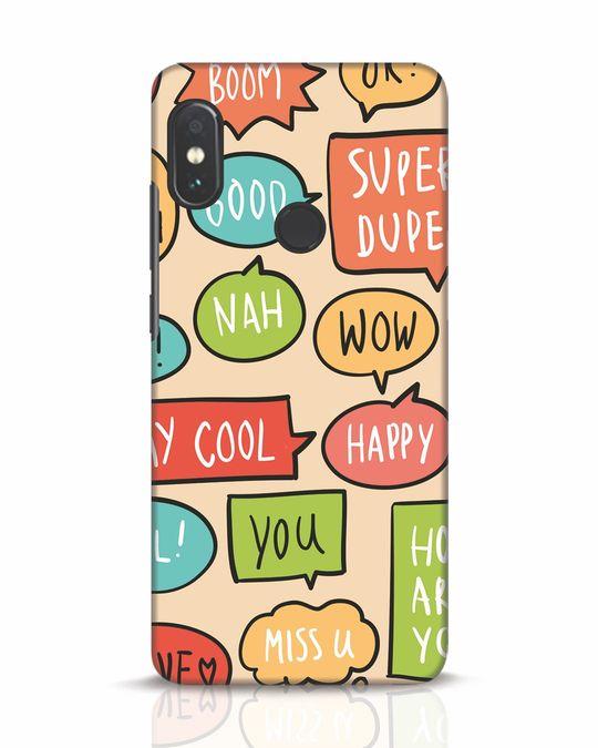 Shop Callouts Xiaomi Redmi Note 5 Pro Mobile Cover-Front