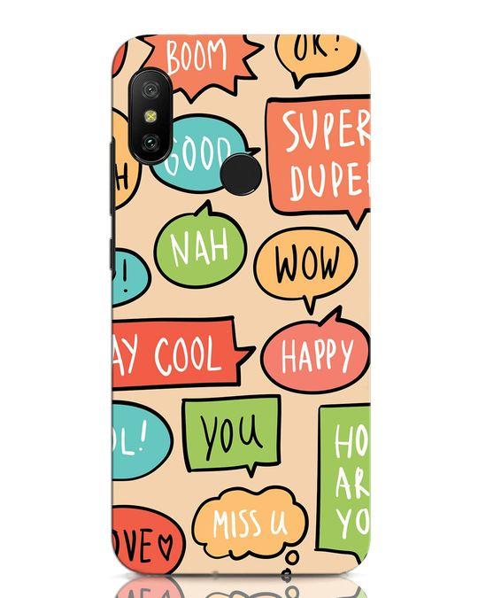 Shop Callouts Xiaomi Redmi Note 6 Pro Mobile Cover-Front