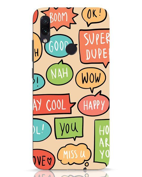 Shop Callouts Xiaomi Redmi Note 7 Pro Mobile Cover-Front