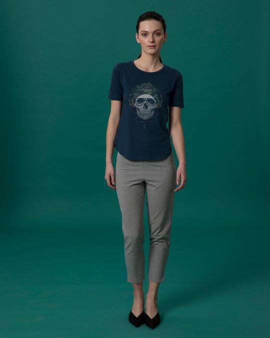 Shop Camo Beanie Basic Round Hem T-Shirt