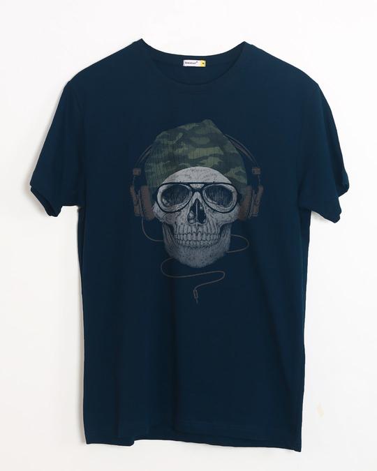 Shop Camo Beanie Half Sleeve T-Shirt-Front