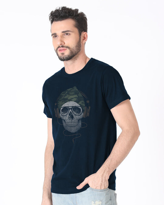 Shop Camo Beanie Half Sleeve T-Shirt-Full