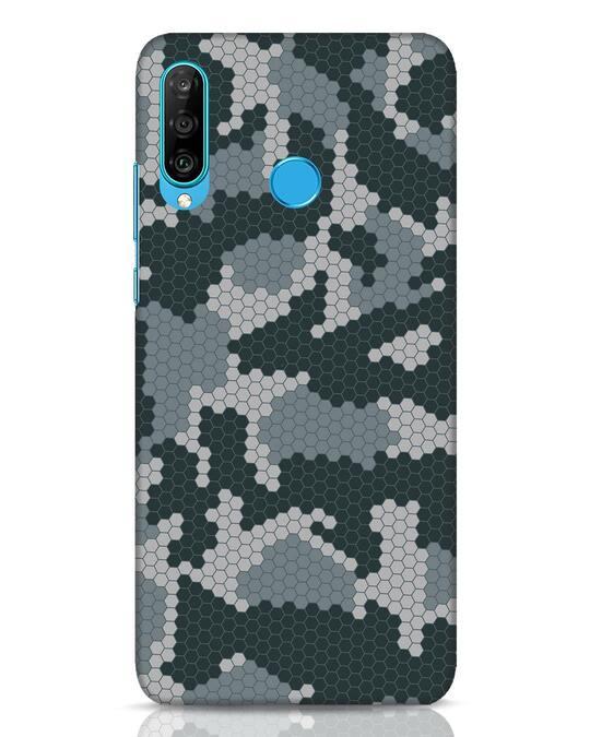 Shop Camo Honey Comb Huawei P30 Lite Mobile Cover-Front
