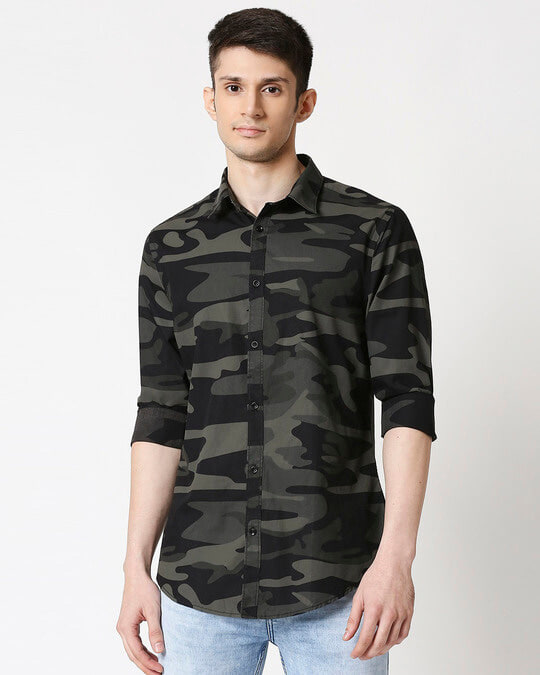 Shop Camo Print AOP Shirt-Back