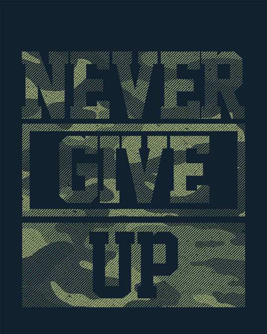 Shop Camouflage Never Give Up Boyfriend T-Shirt