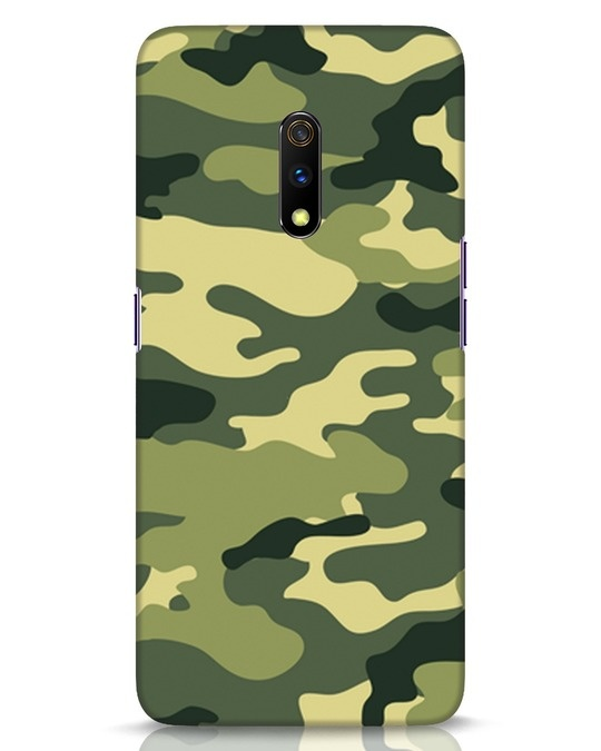 Shop Camouflage Realme X Mobile Cover-Front