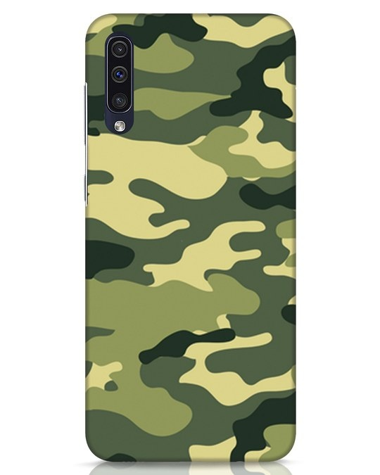 Shop Camouflage Samsung Galaxy A50 Mobile Cover-Front