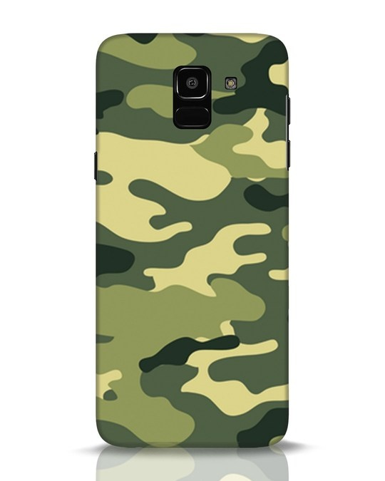 Shop Camouflage Samsung Galaxy J6 Mobile Cover-Front