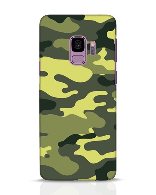 Shop Camouflage Samsung Galaxy S9 Mobile Cover-Front