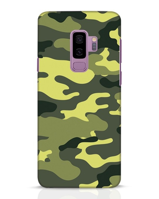 Shop Camouflage Samsung Galaxy S9 Plus Mobile Cover-Front