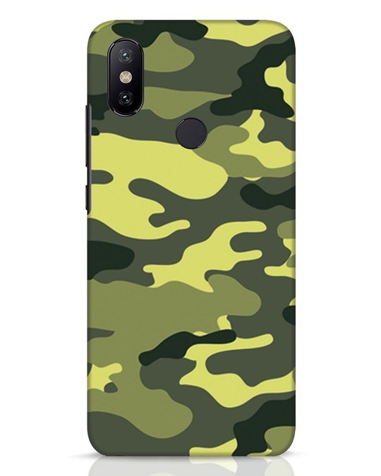 Shop Camouflage Xiaomi Mi A2 Mobile Cover-Front