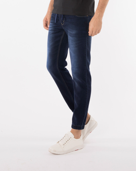 Shop Camper Blue Denim Joggers-Back