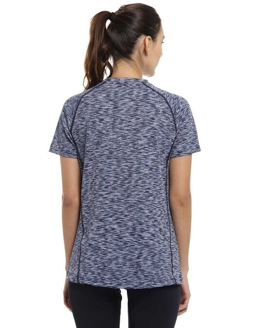 Shop Abstract Women Round Neck Purple Sports Dry Fit T Shirt-Design