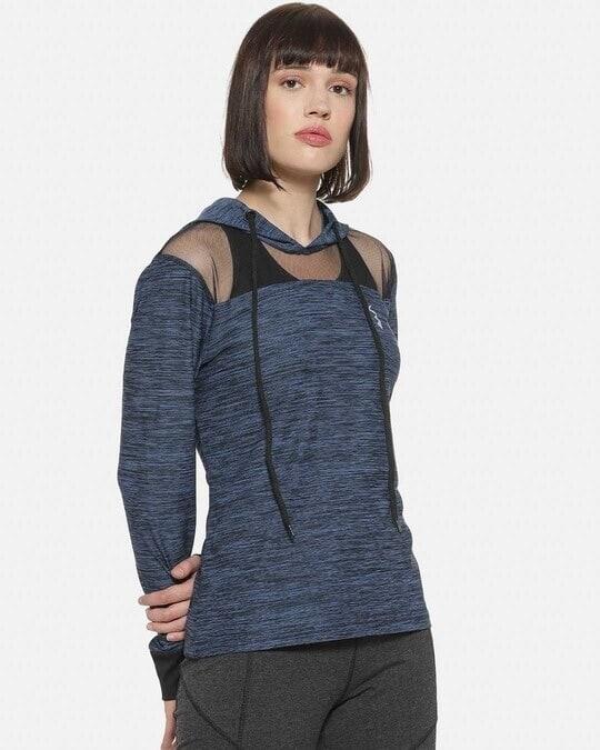 Shop Full Sleeve Colorblock Women Sports Jacket-Back