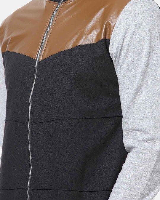 Shop Campus Sutra Full Sleeve Colorblocker Men Casual Zipper Jacket