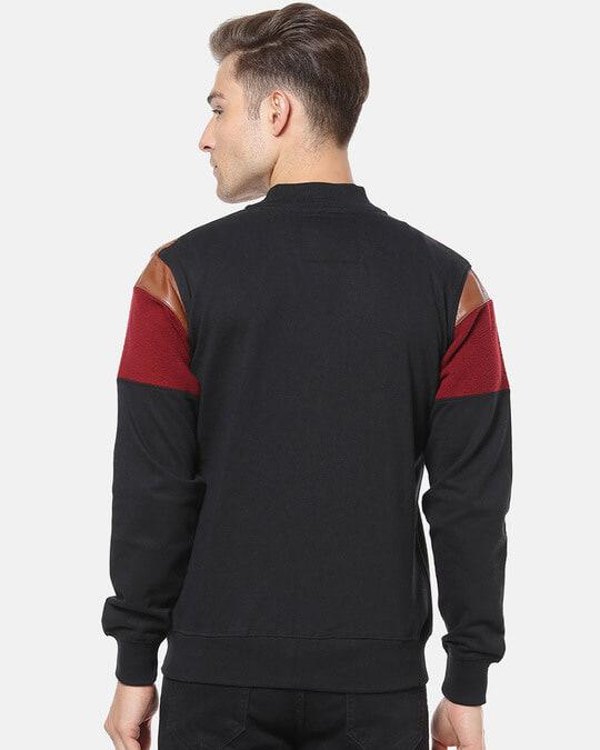 Shop Campus Sutra Full Sleeve Colorblocker Men Casual Zipper Jacket-Design