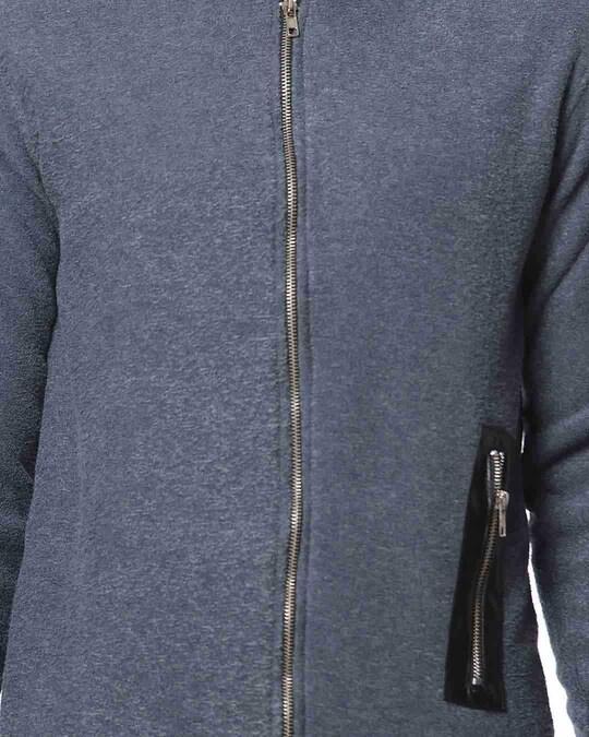 Shop Campus Sutra Full Sleeve Solid Men Casual Zipper Jacket