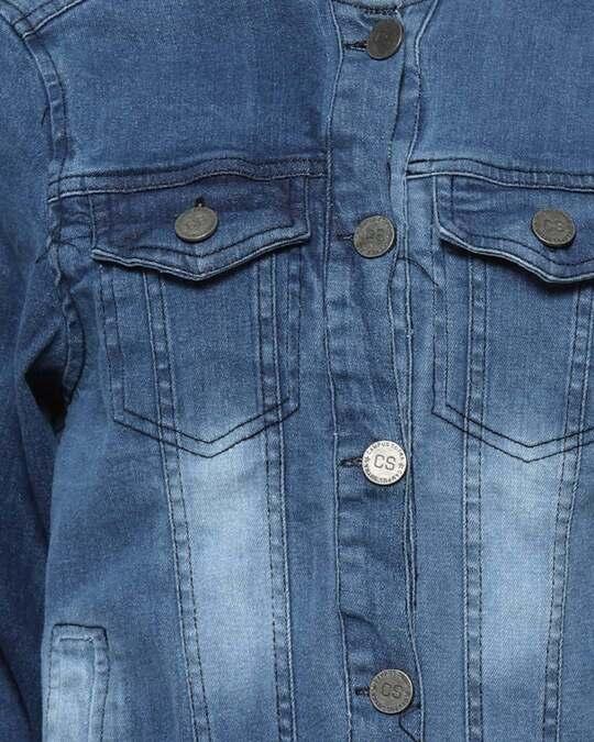 Shop Full Sleeve Women Solid Casual Denim Jacketaw21 Jkdenim03 W Pln Burd