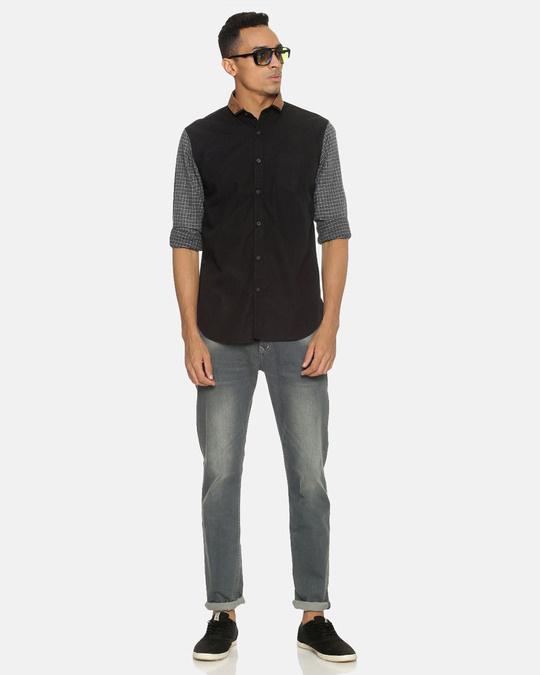 Shop Campus Sutra Men Brown Neck Shirt-Full