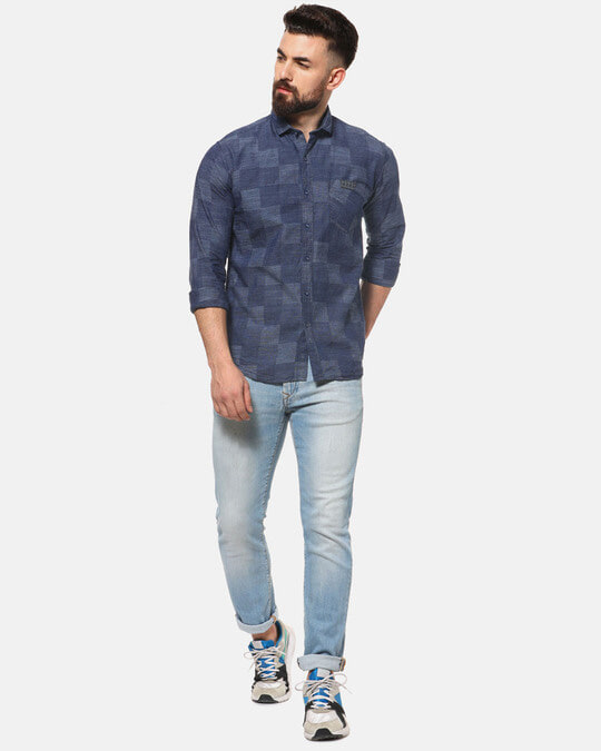 Shop Campus Sutra Men Casual Checkered Shirt-Full