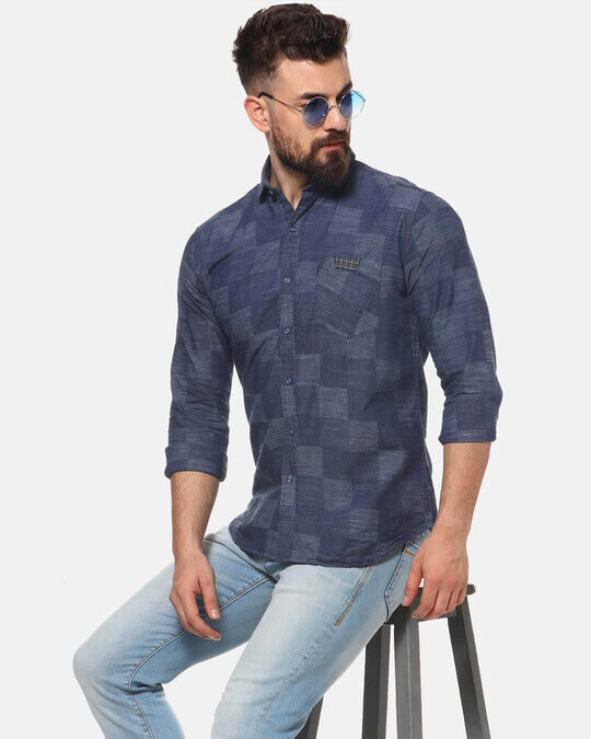 Shop Campus Sutra Men Casual Checkered Shirt